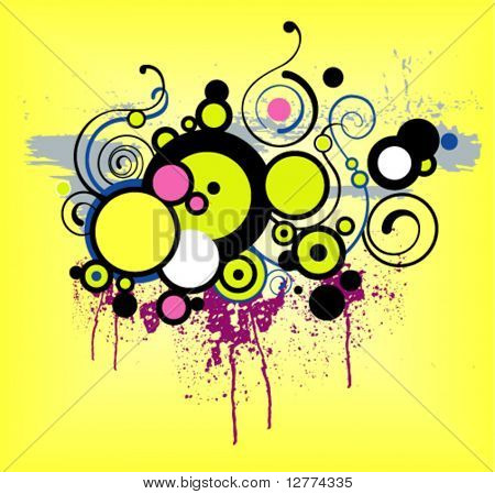 Abstract Grunge Background - Vector