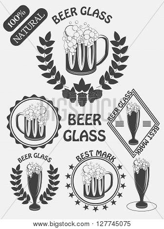 Vintage Craft Beer Brewery Emblems, Labels And Design Elements. Beer My Best Friend. Vector