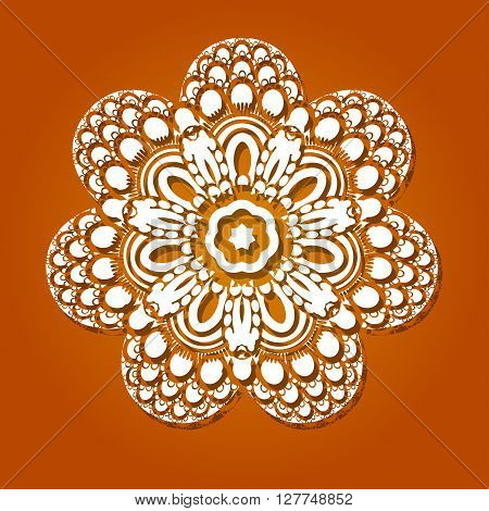 Oriental Vector Pattern With Arabesque And Floral Elements. Traditional Ornament. Vector