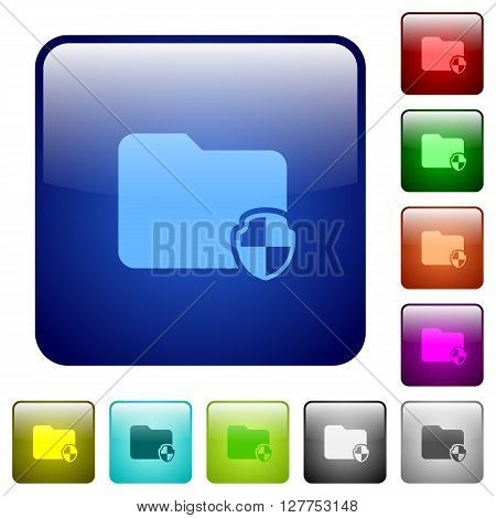 Set of color protect folder glass web buttons.