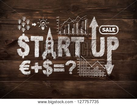 Drawing Start Up Concept