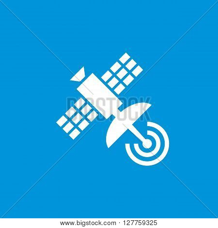 Satellite vector icon for website, smartphone application and other business projects. Silhouette of space satellite creative vector illustration. Satellite vector sign in classic design style.
