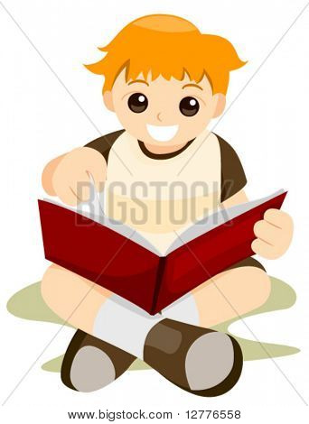 Reading Book - Vector