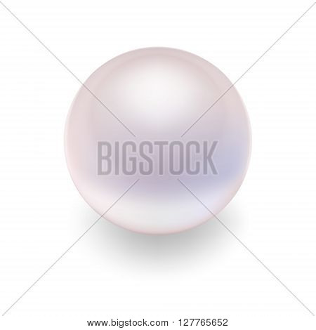 Realistic pearl. Pearl icon vector, isolated vector pearl, pearl image, pearl template, pearl design. Vector EPS10 illustration.