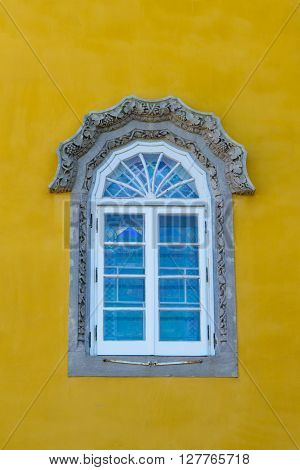 Window of the Famous Pena palace in Sintra in Portugal