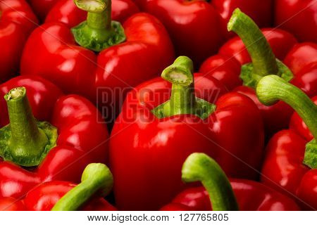 red peppers full frame close-up background textured