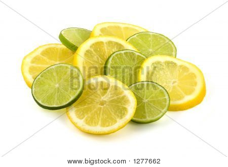 Slices Of Lemon And Lime Fruit
