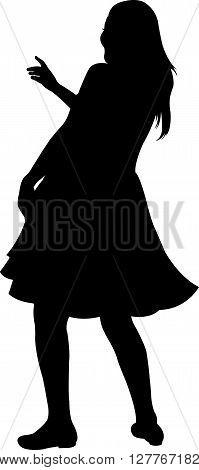 belly dancer dancing, black color silhouette vector