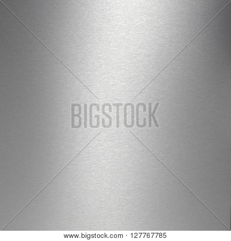 Brushed stainless steel plate textured background.