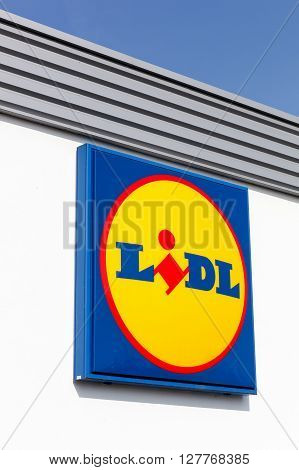 Macon, France - March 22, 2016: Lidl is a german global discount supermarket chain, based in Neckarsulm, Baden-Wurttemberg, Germany, that operates over 10 000 stores in 28 countries in Europe