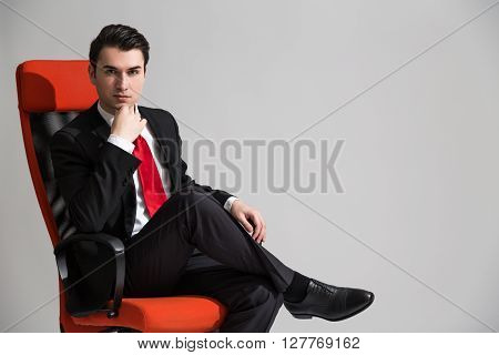 Caucasian Male Sitting