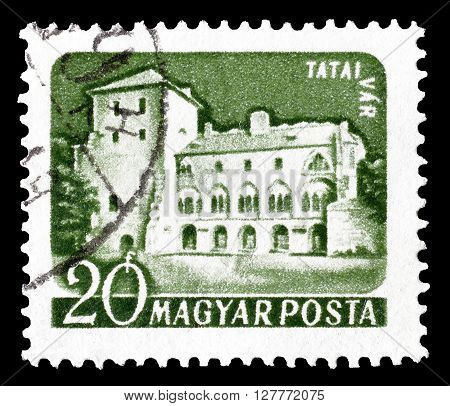 HUNGARY - CIRCA 1960 : Cancelled postage stamp printed by Hungary, that shows Tatai castle.