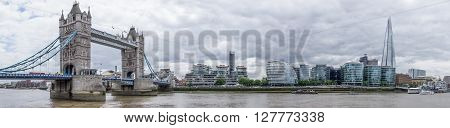 Panorama of London including London Bridge and the Shard