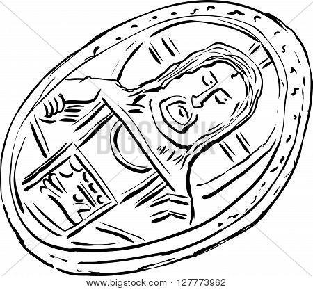 Old Byzantine Histamenon Coin