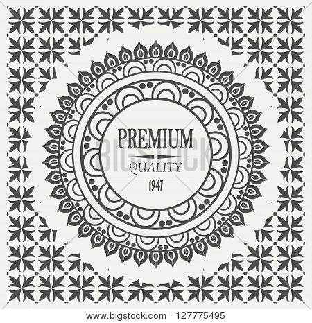 cool vector hipster vintage retro label, stamp, logo, mark and design element, premium quality on seamless pattern.