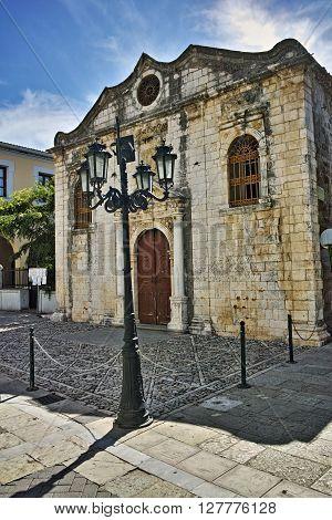 Belfry of the Church in Lefkada town, Ionian Islands, Greece