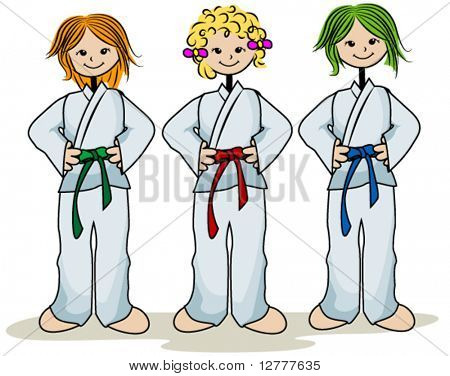 Karate Kids - Vektor