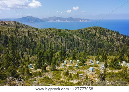 Amazing Landscape with Beehives, Kefalonia, Ionian islands, Greece