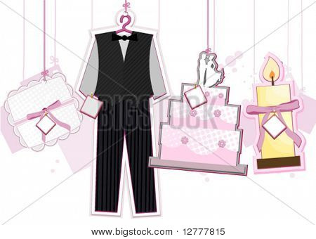 Wedding Strings - Vector