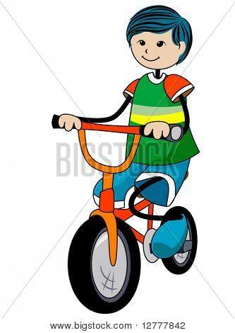 Fahrrad Kid Vektor