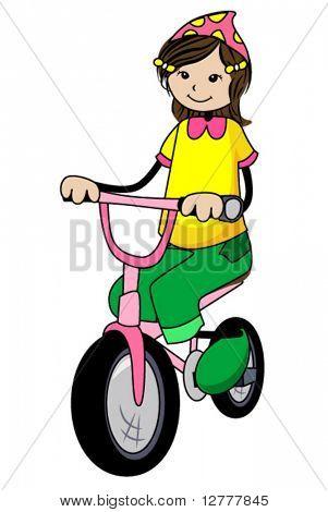 Fahrrad Kid - Vektor