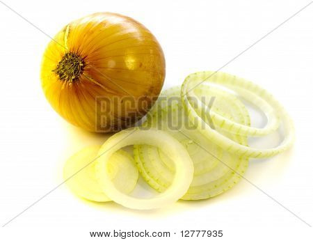 fresh bulb of onion