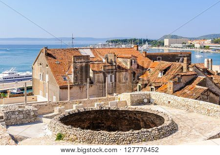 SPLIT CROATIA - SEPTEMBER 2 2009: View of the Vestibule oculus from the bell tower