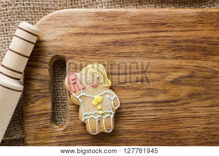 Cookies in the shape of man profession teacher