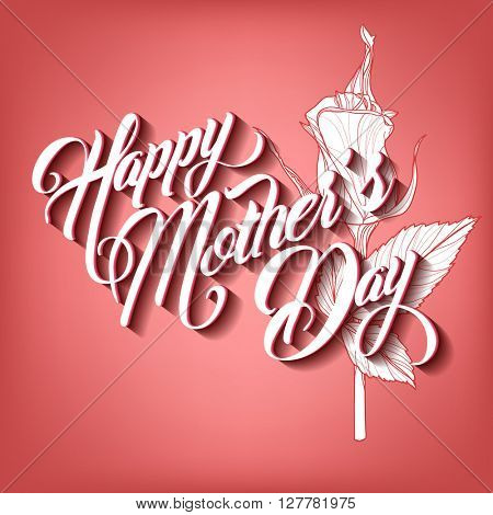 Happy Mothers Day Typographical Lettering Greeting card