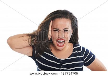 Girl Shouting Pain