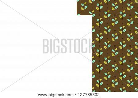 Leaf Seamless Pattern Background. Leaf Pattern Background. Vector Illustration.