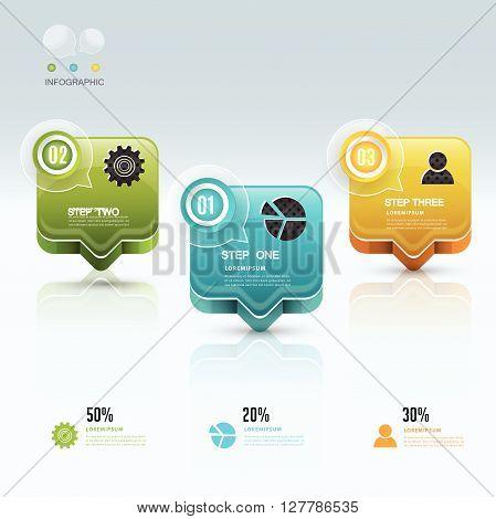 Talk buble Modern Infographic design element banner.