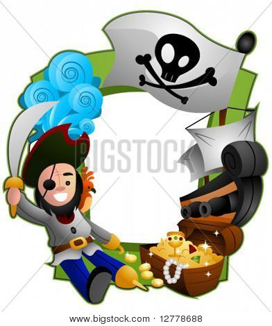 Pirate Frame - Vector