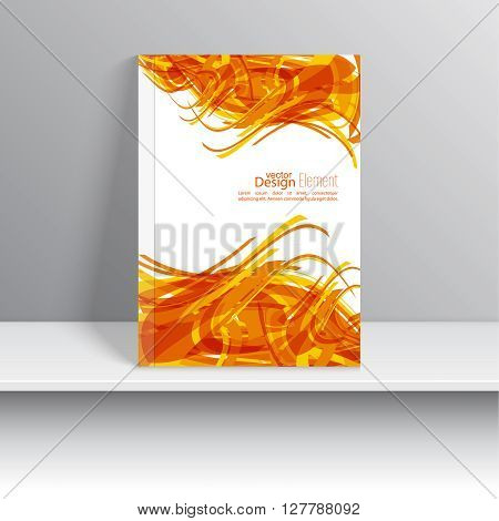 Cover magazine with random weave. For book, brochure, flyer, poster, booklet, leaflet, cd cover, postcard, business card, annual report. vector illustration. abstract background