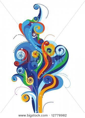 Abstract Wave Design - Vector