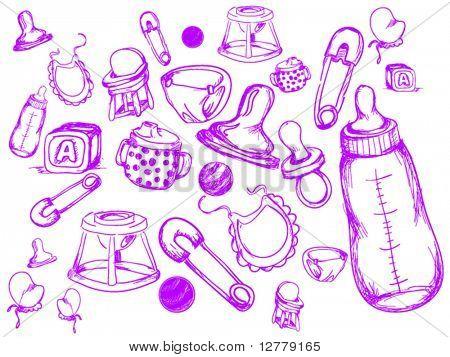 Baby Doodles - Vector