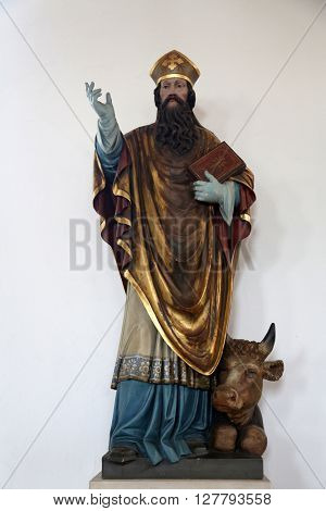 EGGENROT, GERMANY - MAY 06: Saint Patrick, statue in the parish church of St. Patrick in Eggenrot, Germany on May 06, 2014.
