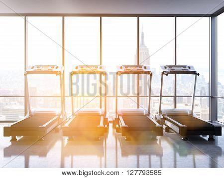 Four Treadmills Toning