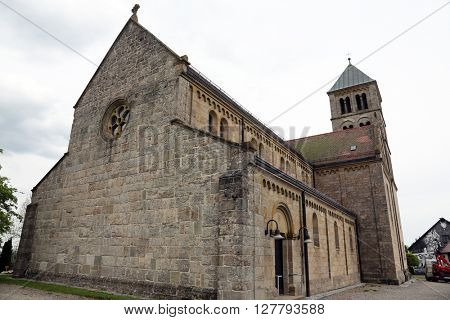 HOHENBERG, GERMANY - MAY 06: The parish church of St. James in Hohenberg, Germany on May 06, 2014.