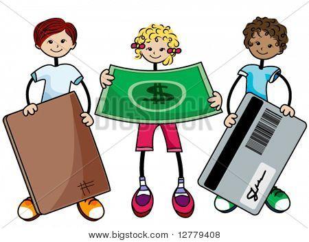 Finance Kids - Vector