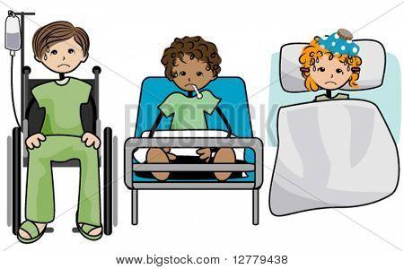 Sick Kids - Vector