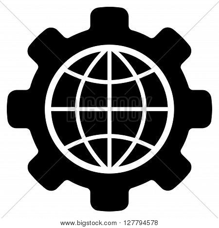 Global Options vector icon. Style is flat icon symbol, black color, white background.
