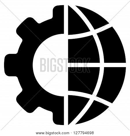International Manufacture vector icon. Style is flat icon symbol, black color, white background.