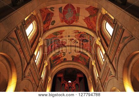 Sanary sur Mer France - april 20 2016 : the Saint Nazaire church