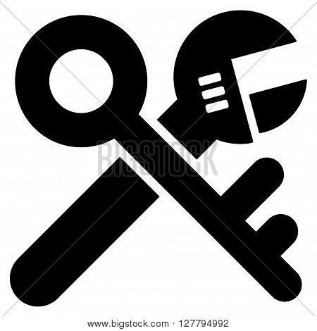 Security Tools vector icon. Style is flat icon symbol, black color, white background.