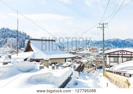 Winter In Takayama Ancient City In Japan