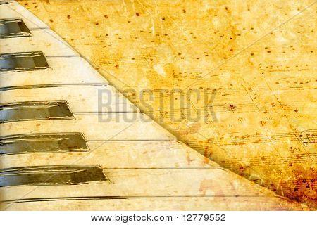 Musik Grunge und Textur-Papier