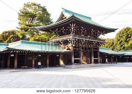 Meiji Shrine In Tokyo, Japan