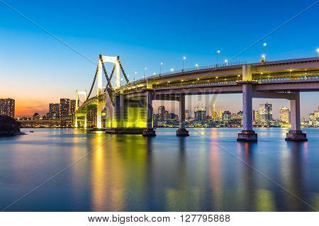 Night With Tokyo Skyline View From Odaiba