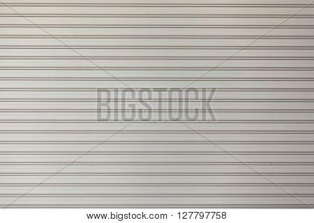 Metallic roll shutter door texture garage door metal